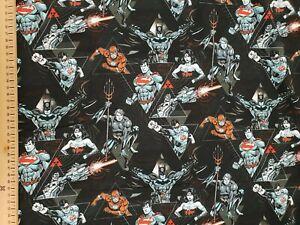 DC-comics-Jersey-Fabric-95-cotton-5-Spandex-METRE-material-batman-superman