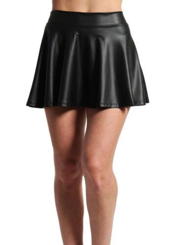 environ 30.48 cm Neuf Femmes//Filles 12 in Noir Wetlook Micro Jupe de Patineuse 30 cm