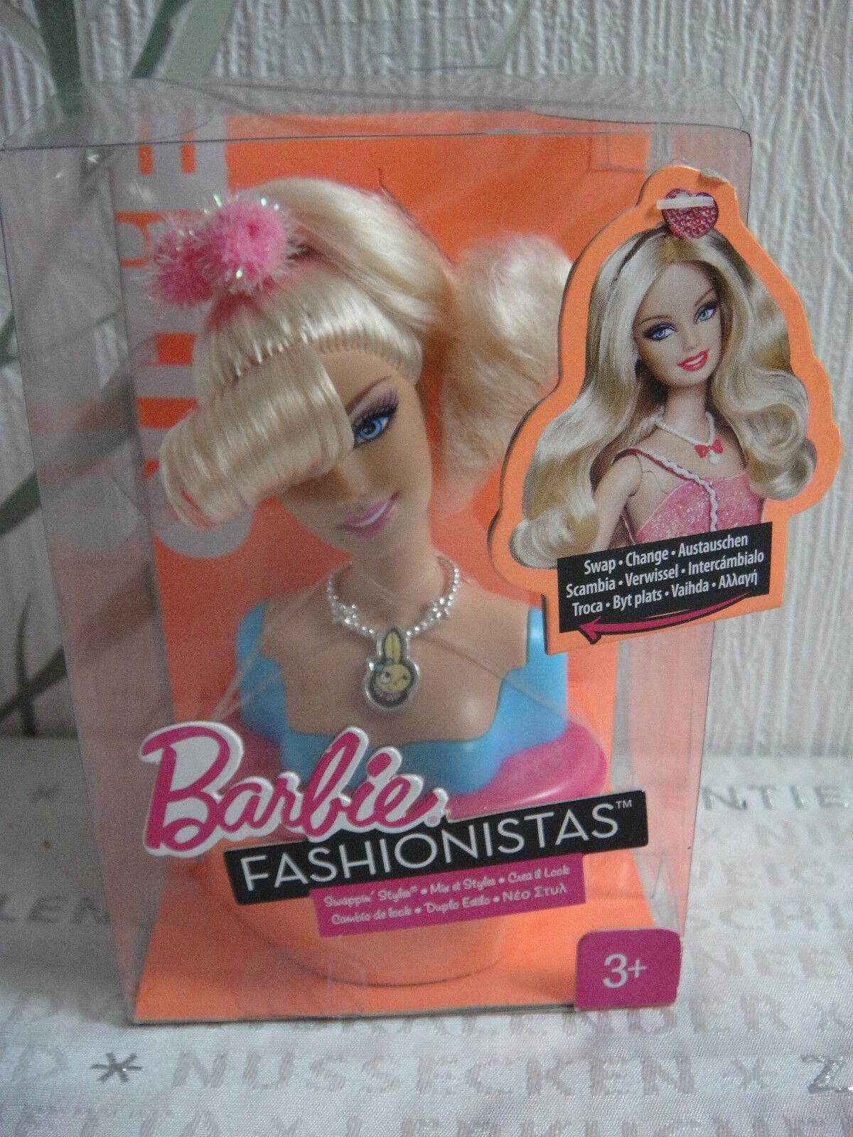 Mattel Barbie    Fashionistas Swappin Styles - Cutie Swap Head  Kopf Swap    Erste Qualität