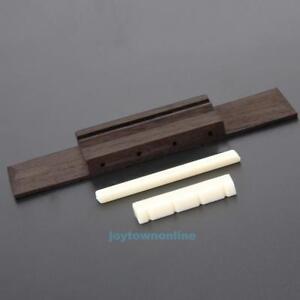 Ivory-ABS-Nut-and-Saddle-Slotted-110mm-Rosewood-Bridge-for-Ukulele-Uke-Parts