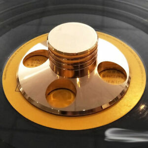 LP-Vinyl-Turntable-Disc-Stabilizer-Record-Weight-Gold-HiFi-Metal-Audio-Parts