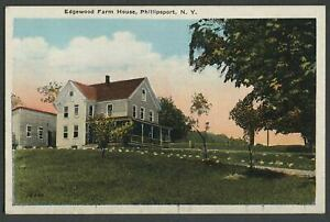 Phillipsport-Mamakating-NY-c-1920-Postcard-EDGEWOOK-FARM-HOUSE-Summer-Boarding