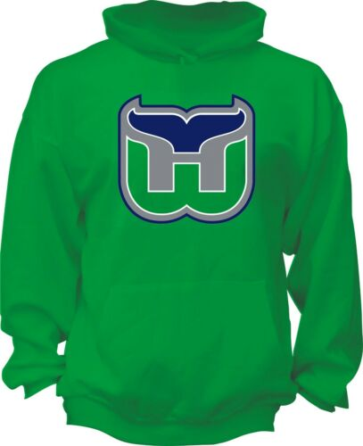 HARTFORD WHALERS DEFUNCT NHL OLD TIME HOCKEY Green Hoodie handmade team nhl