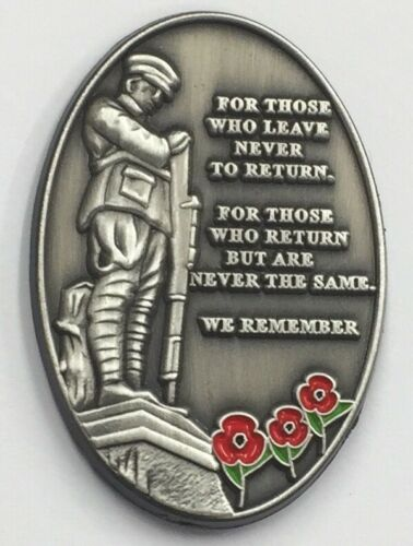 Military Verse Poppy Pin Badge Remembrance Day 10 /%donated to Veteran Charities