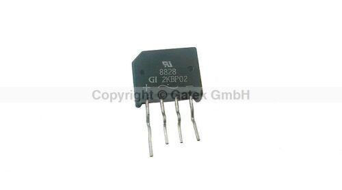 25x Gleichrichter Bridge Rectifier 2KBP02  2A 200V  NOS Lagerware