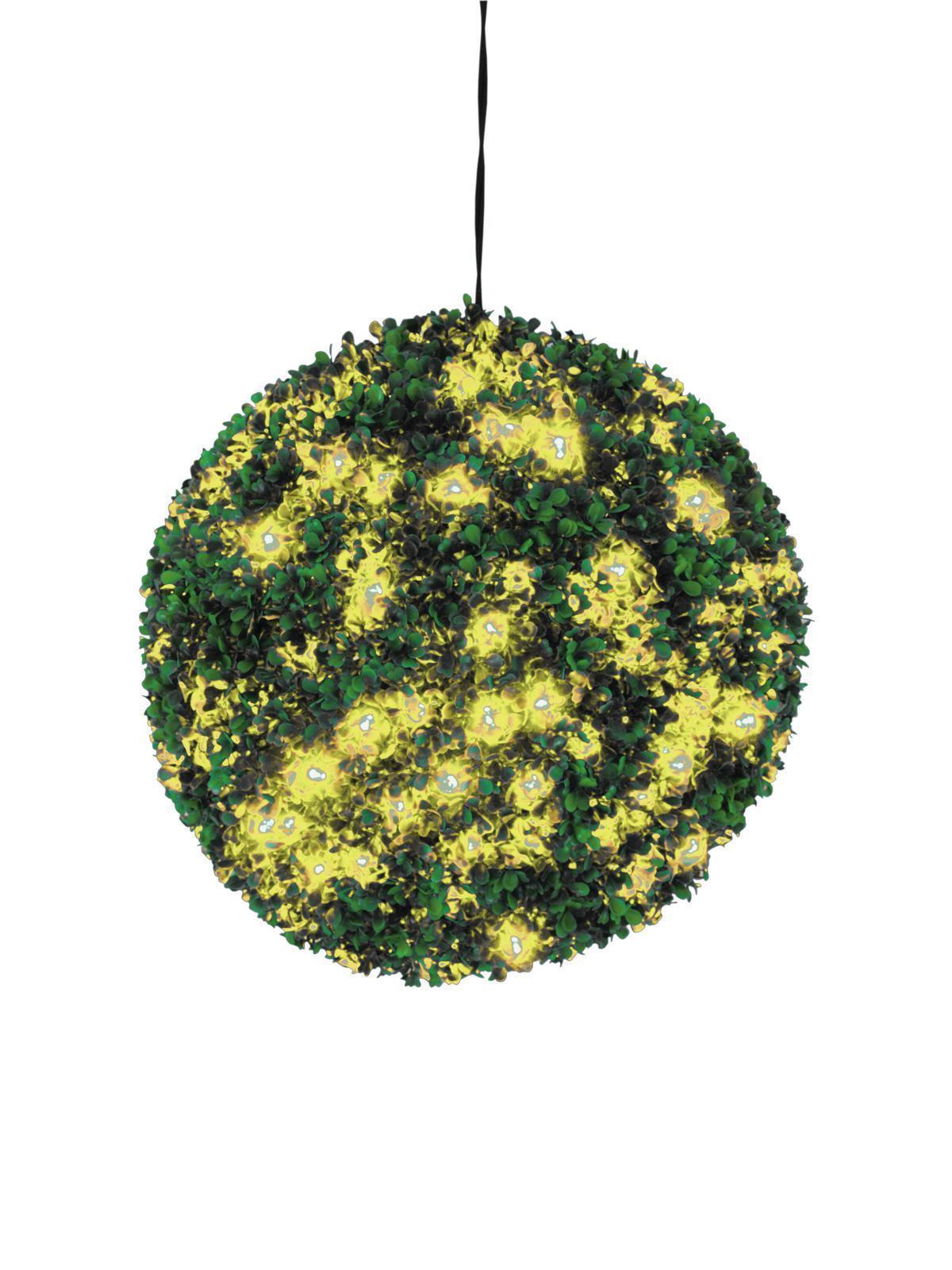 Umore pieno illuminata LIBRO ALBERO SFERA con fino a 200 LED GIALLO, 40cm