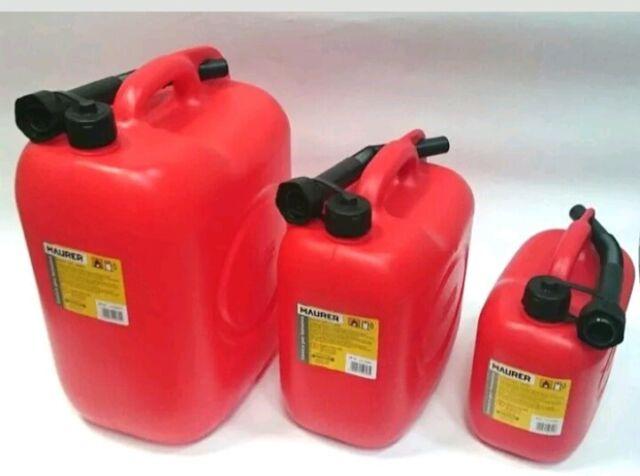Tanica plastica per benzina e gasolio MAURER - Capienza 5 - 10 - 20 LT