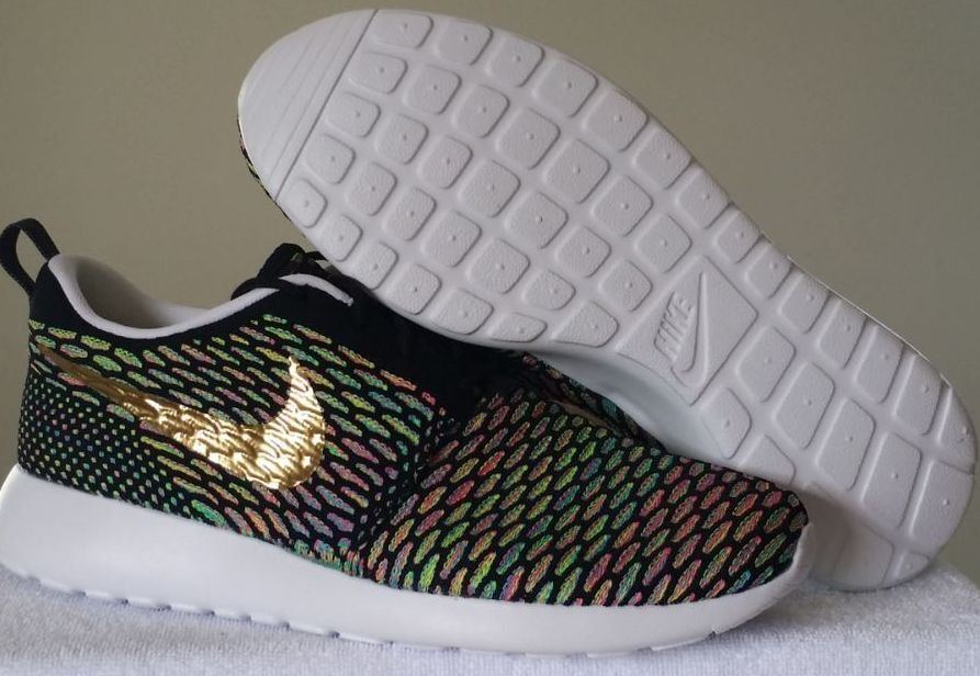 New Nike Roshe One Flyknit iD Men's Shoes Comfortable Seasonal clearance sale