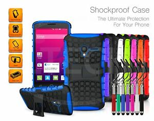 For-LG-K7-X210-Kickstand-Shockproof-Case-Dual-Layer-amp-Pen