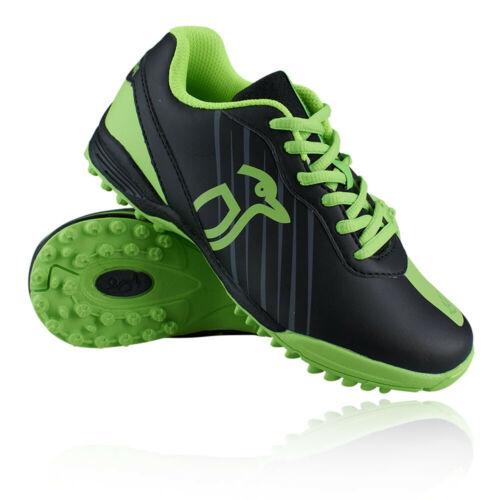 Black Green Sports Breathable Kookaburra Boys Neon Hockey Shoes Pitch Field