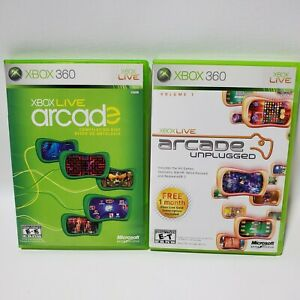 Arcade Unplugged Vol. 1 & Compilation Lot Xbox 360 Video Games Tested