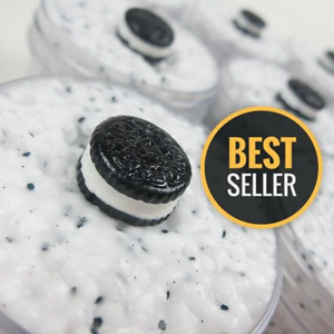 Oreo Floam (scented) with Cute Cookie Charm - 4, 6 & 8 oz - Made in USA