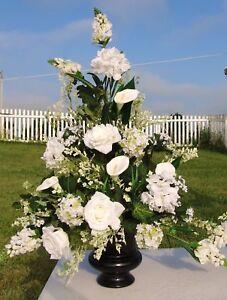 eBay & Details about High End Silk Flowers Church Wedding Altar Urn Vases Bachlorette Bridal Showers