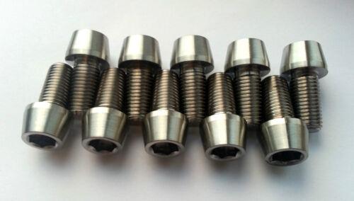 11,3 GM Grado 5 1,25 filettatura taperhead BOLT TITANIUM M10 x 20 mm
