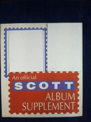 SCOTT 1992 U.S. Commemerative Singles Supplement #22
