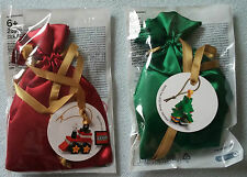 LEGO ® 5002813 & 5003083 ornament christmas PROMO 2014 2015 NUOVO 6079532 6122726
