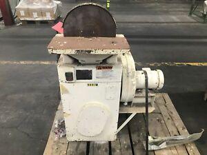 USED-12-Inch-Disk-Sander-1HP-1740RPM-Rockwell-86-044-w-Baldor-Motor-CM3537