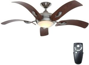 Modern Ceiling Fan Light Kit Brushed