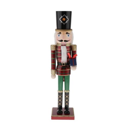 50cm Wooden Nutcracker Soldier Figure Figurine Home Ornament Xmas Decor
