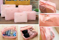 5 PCS Waterproof Storage Bags Travel Luggage Organizer Packing Cube Bag