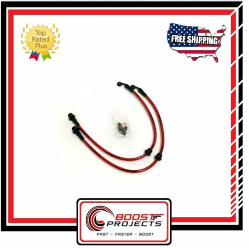 Agency Power Front Steel Braided Brake Lines for 1989-1994 240SX S13 AP-S13-405