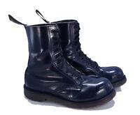 Dr. Martens Doc England Rare Vintage Navy Blue 1919 Steel Toe Boots UK 7 US 8