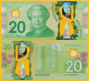 Canada-20-Dollars-p-108b-2012-UNC-Polymer-Banknote