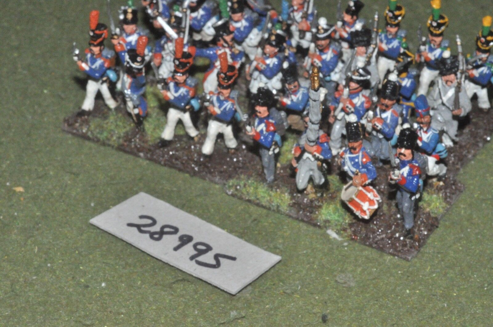 25mm napoleonic   french - line 32 figures - inf (28995)