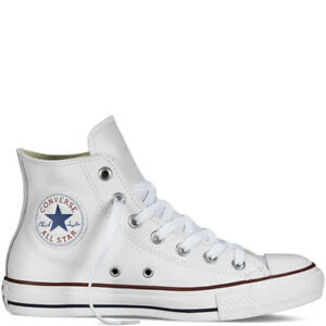 Scarpe-Converse-All-Star-Bianche-in-Pelle-Classiche-total-White-unisex