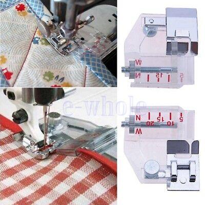 SewNote Adjustable Bias Binding Binder Presser Foot Low Shank Fits Singer Brother Sewing Machines