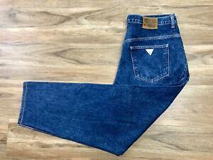 De Coleccion Jeans Guess Para Hombre Talla 38 Ee Uu Pantalones De Algodon Logotipo Triangulo Verde Ebay