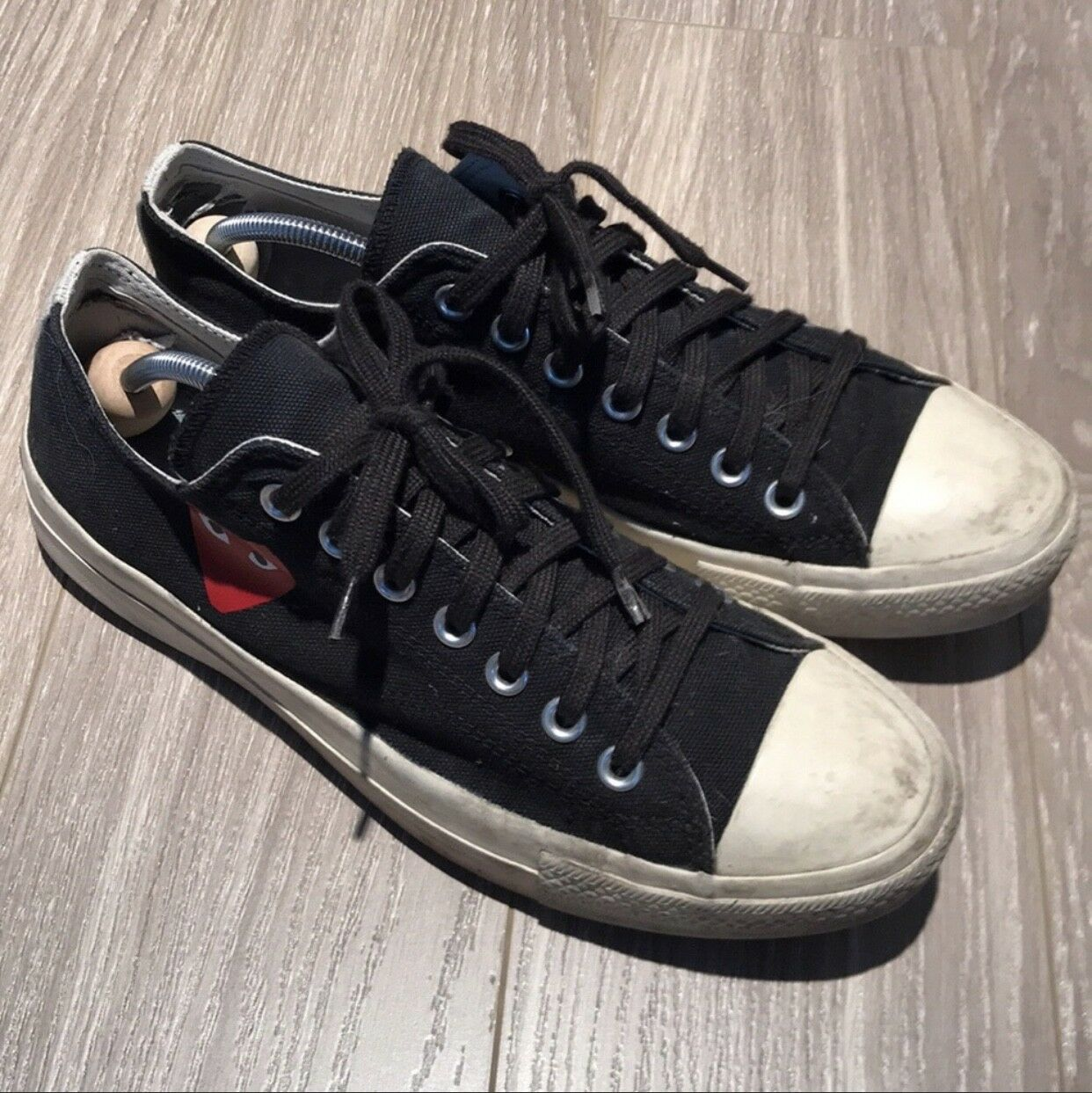 69396cdd9aa5 Converse Comme des Garcons CDG Play Black High Top Top Top 9 Men s 11  Women s