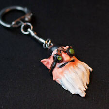 Sniper Kardel Sharpeye Hero Dota 2 game keychain, hand-painted charm