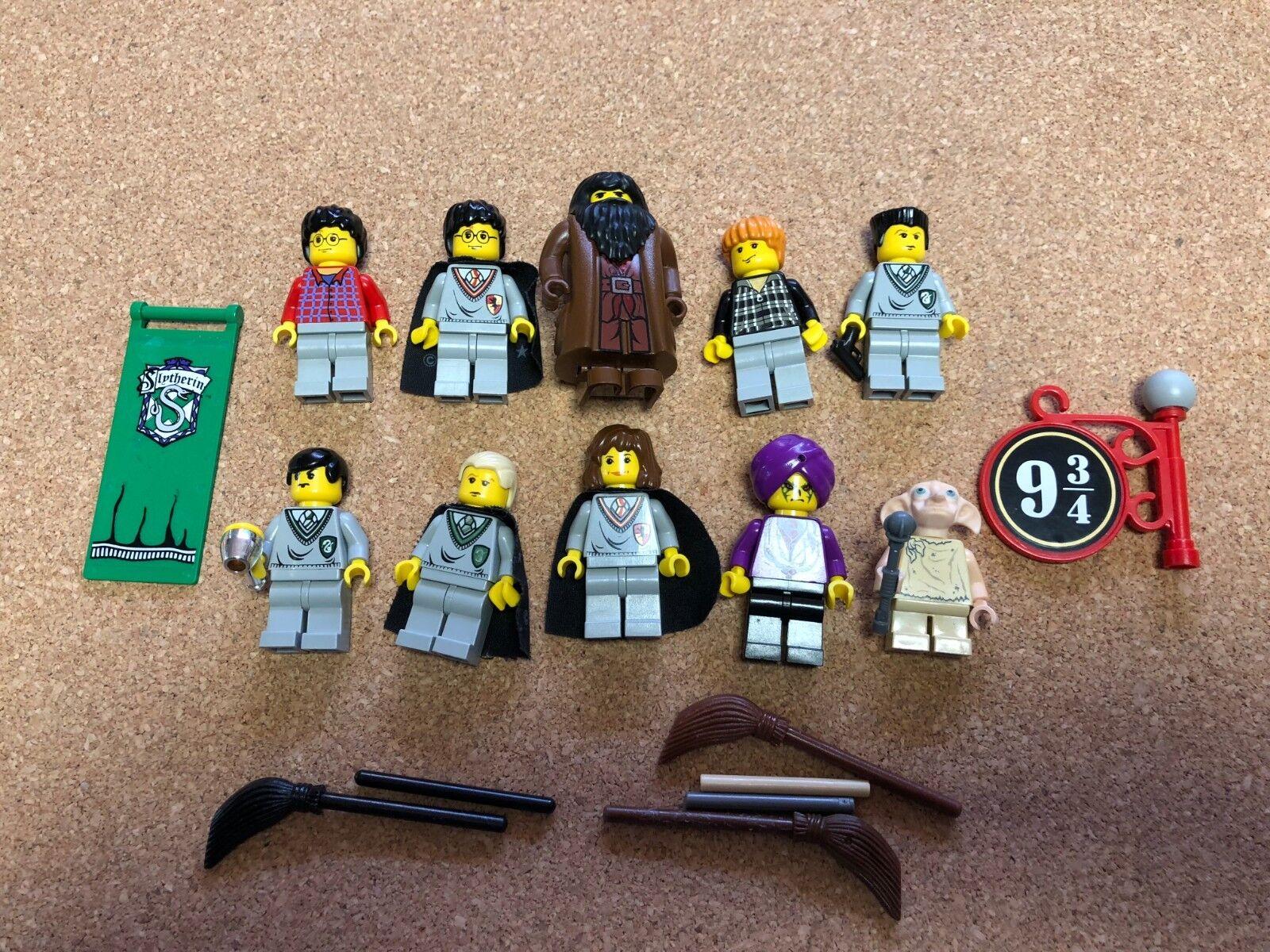 LEGO Harry Potter MINIFIG LOT of 10 MINIFIGS Dobby Hagrid Lot R507B
