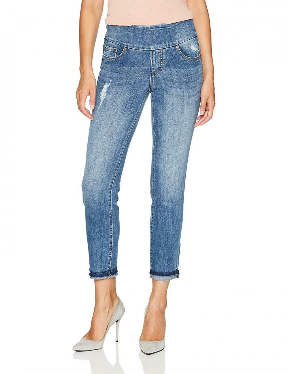 Jag Jeans Womens Amelia Slim Ankle Pull-On In River Wash