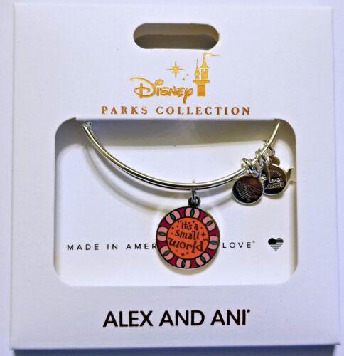 NEW Disney Parks ALEX /& ANI bracelet IT/'S A SMALL WORLD sun face 2 sides