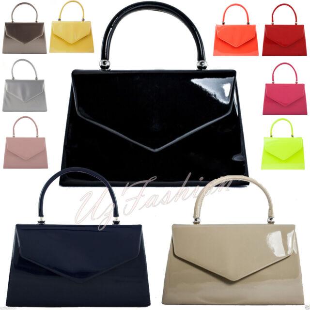 77fa13f85da Fi9â Retro Tote Patent Leather Bridal Wedding Evening Handbag Party Purse
