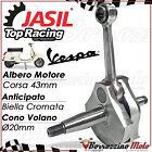 ALBERO MOTORE JASIL TOP RACING ANTICIPATO CROMATO PER VESPA PK 50 XL RUSH N HP