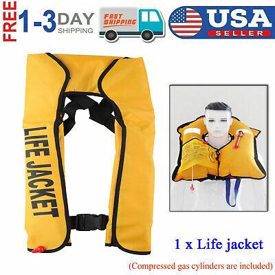 Universal Adult Automatic Inflation Life Jacket Survival Vest Manual Inflatable