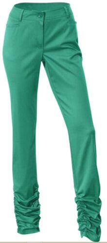 Nuevo pantalones tubos el fruncido elástico 34//17 36//18 42//21 44//22 mandarín Weiss 108492