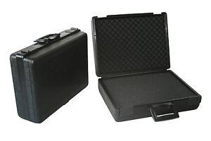 Fotokoffer-Multifunktionskoffer-schwarz-mit-Raster-u-Noppenschaumstoffeinlage