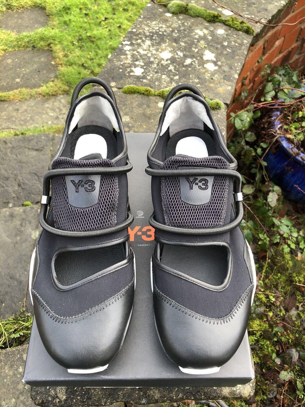 Adidas Low Y-3 Yohji Yamamoto Sly Low Adidas Noir & blanc  UK12 EU47.5 US12.5 V22266 BNIB 3901a0