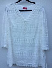 Fashion by Together 3/4 Sleeve Lace Tunic Cream 3XL rrp £51.50