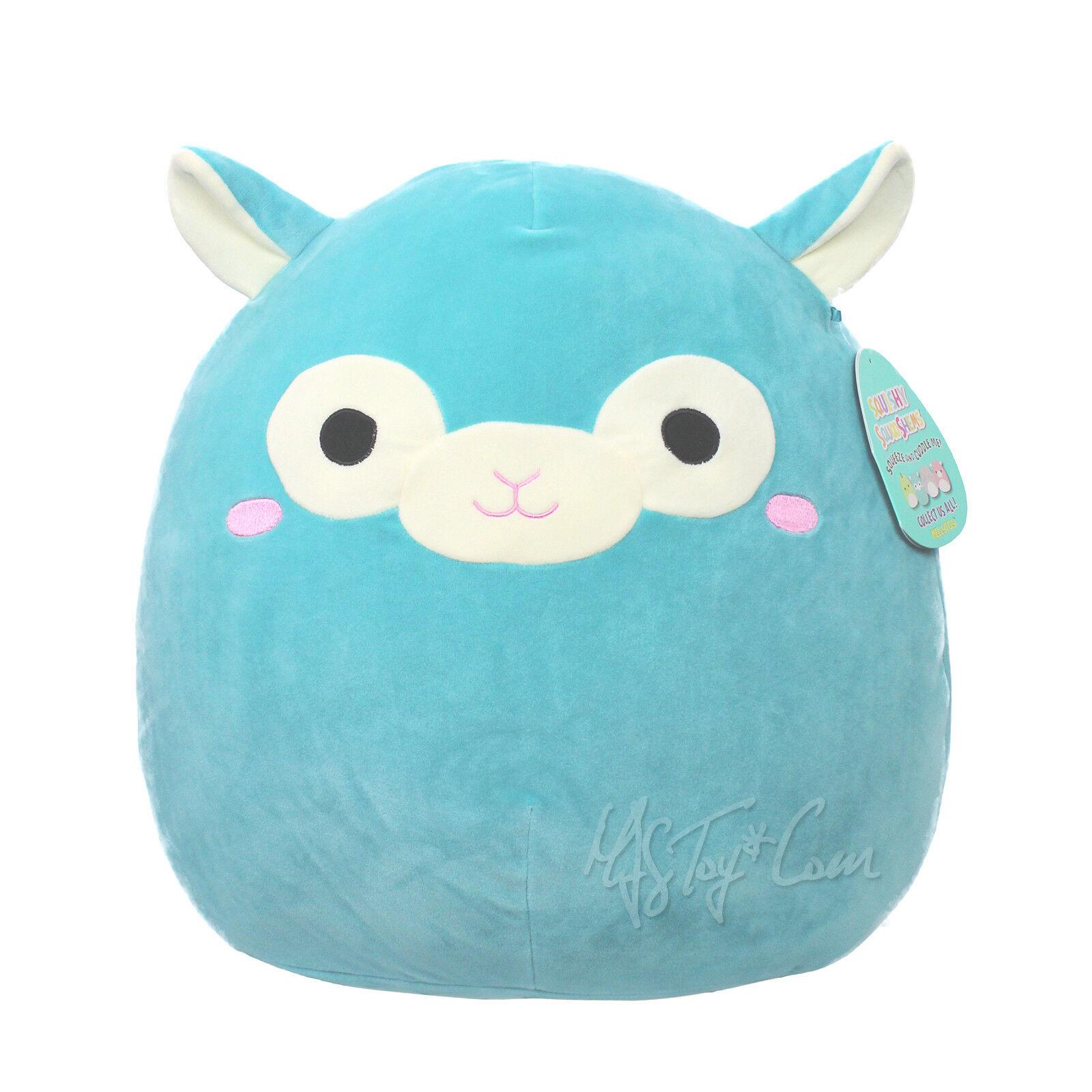 NWT KellyToy Squishy Squooshems Squeeze Cuddle Me Plush Pillow Doll blu TIM 18