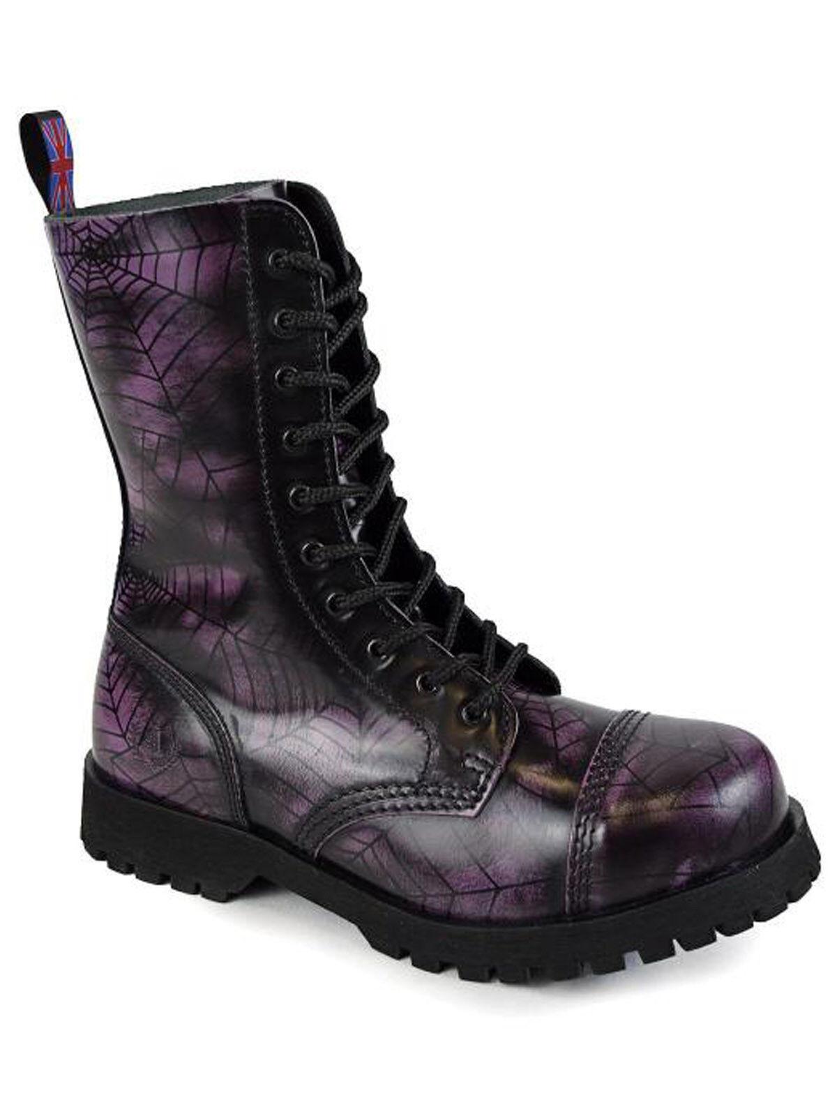 Alpha Boot/Rangers RANGER Springer Stivali 10 fori Boot/Rangers Alpha Stivali Spider viola #5012 159b1d