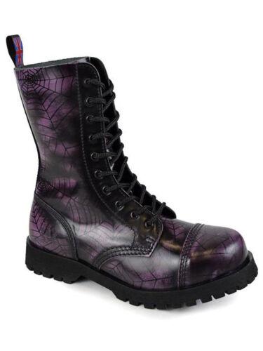 Alpha Ranger Springer Bottes 10 trous Boot//Rangers Bottes Spider Violet 5012