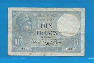 10 Francs Bleu ( Minerve ) Du 19-6-1941 E.84766 Ycuepegw-07224203-472548168