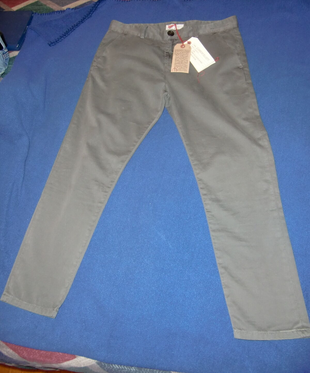 NWT Current Elliott The Smart Trouser Pants   168 CUFF or Roll size 28
