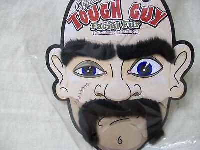 3 pc Tough Guy Facial Fur Hair Set Biker Dude Mobster Fu Manchu Body Guard Brows