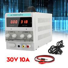 Power Supply 30v 10a 110v Precision Variable Dc Digital Adjustable Lab Withclip